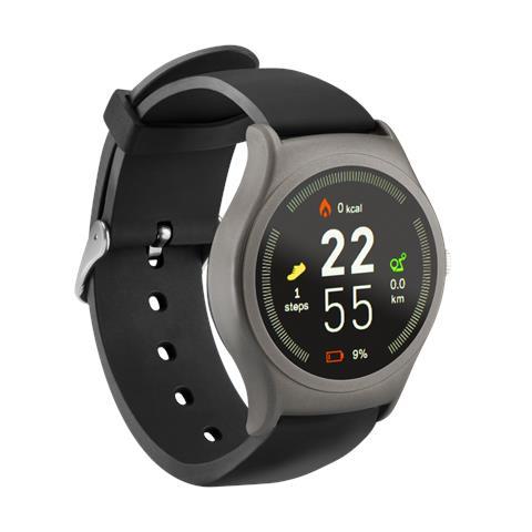 Smartwatch SW201 Display 1.3'' Bluetooth per Fitness con Pedometro e Cardiofrequenzimetro Nero - Europa