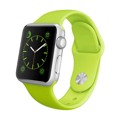FONEX Cinturino WristBandi n silicone per Apple Watch da 42mm - Verde