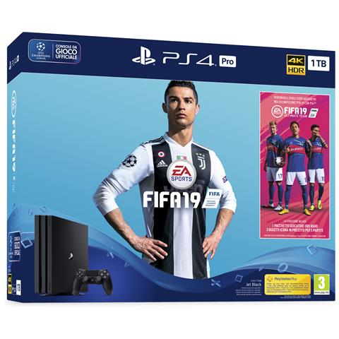 Image of Console Playstation 4 PRO 1 TB + FIFA 19