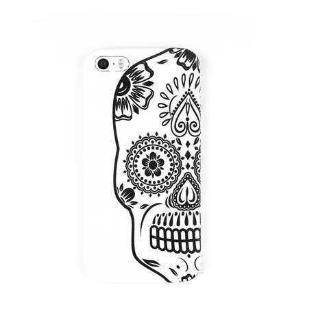 AIINO Custodia Tattoo Teschio per Galaxy S5 - Bianco
