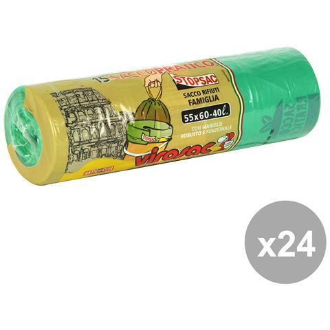 Virosac Set 24 55x60 Verde Maniglie 15 Pezzi Virosac Riordino