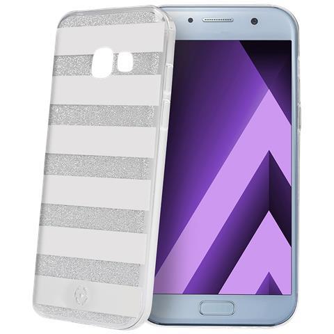 CELLY Custodia per Galaxy A5 Colore Argento