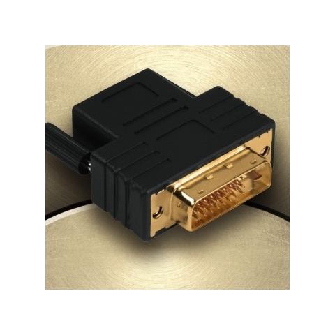 HAMA Compact Adapter DVI-D Plug - HDMI Socket DVI-D HDMI female Nero cavo di interfaccia e adattatore