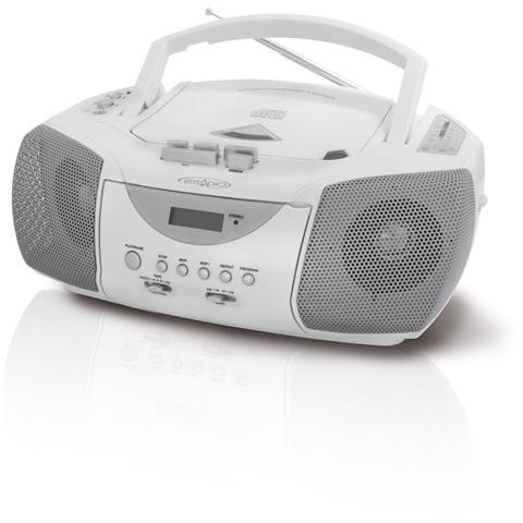 IRRADIO Cds 198 ws radioregistratore AM / FM stereo con CD colore Bianco - silver