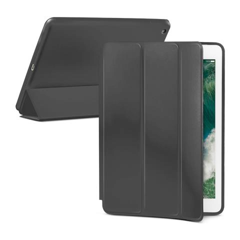 "FONEX Book Executive Touch in Silicone con Funzione Sleep e Stand per Apple iPad New 2017 9.7"" Colore Grigio Scuro"