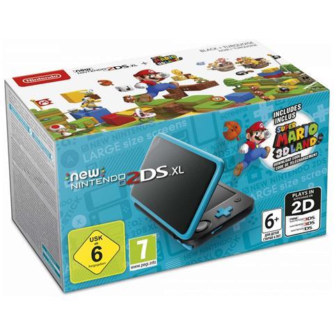 Image of Console New 2DS XL + Super Mario 3D Land colore Nero / Turchese