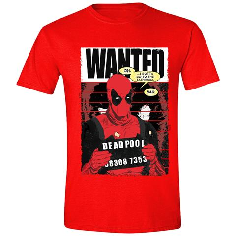 TimeCity Deadpool - Wanted Poster Red (T-Shirt Unisex Tg. M)