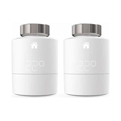 Testa Termostatica Smart Intelligente Wireless Senza Fili Duo Pack Compatibile con Home Ki...