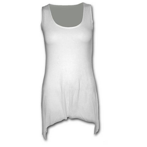 Spiral Direct Spiral - Gothic Elegance - Goth Bottom Vest Dress White (Abito Donna Tg. 2XL)