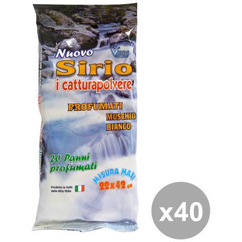 Sirio Set 40 Panni Polvere Muschio Bianco X 20 Pezzi Attrezzi Pulizie