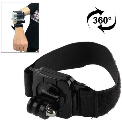 Network Shop Supporto Con Fascia Da Polso Rotazione 360 Gradi Per Camera Gopro