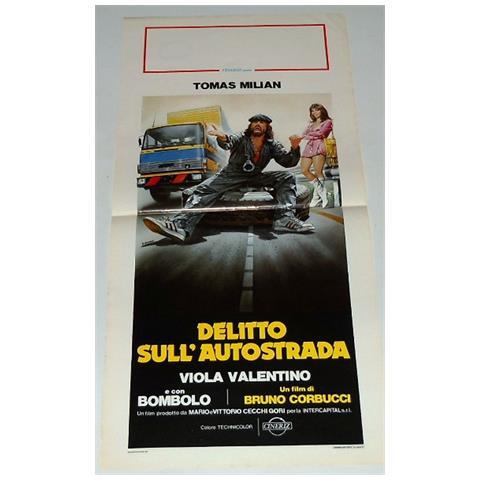 Vendilosubito Locandina Originale Del Film Delitto Sull' Autostrada Con Tomas Milian 1982