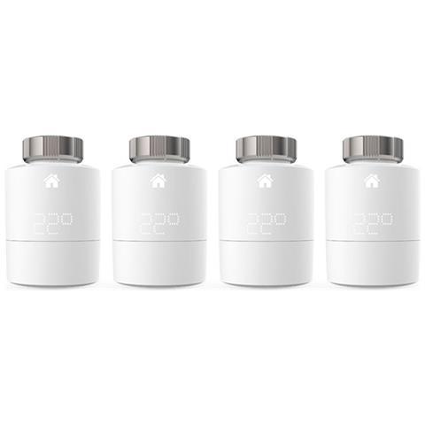 Testa Termostatica Smart Intelligente Wireless Senza Fili Quattro Pack Compatibile con Hom...