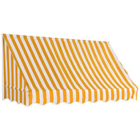 Tenda Da Sole Per Bistrò 200x120 Cm Arancione E Bianca