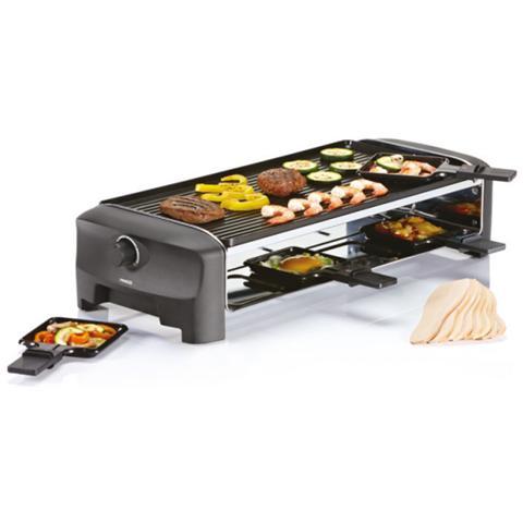 Raclette con Griglia e Teppanyaki Party per 8 Persone Potenza: 1300 Watt
