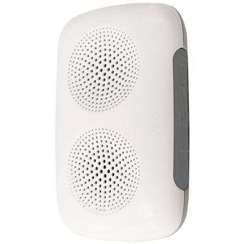 Jam Speaker Portatile Clip Bluetooth Potenza 2W colore Grigio / Bianco