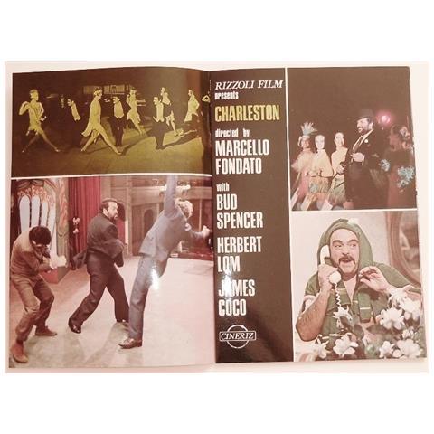 Vendilosubito Brochure 4p Originale Del Film Charleston Bud Spancer 1977 In Inglese