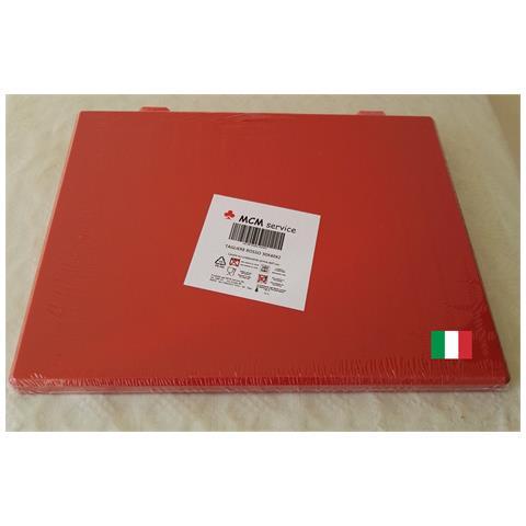 Taglieri In Polietilene Rosso 40x30x2 Con Fermi