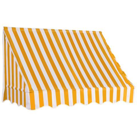 Tenda Da Sole Per Bistrò 150x120 Cm Arancione E Bianca