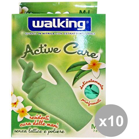 Walking Set 10 X 40 Active Care M-l Nitrile Walking - Giardinaggio