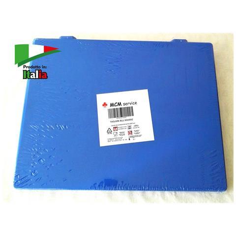 Taglieri In Polietilene Blu 60x40x2 Con Fermi