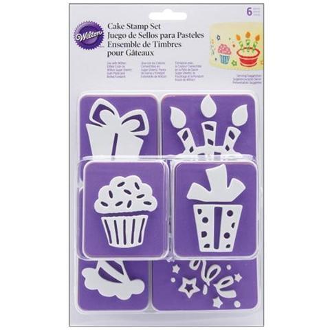 WILTON Timbri Tema Party Per Stampare Su Pasta Di Zucchero