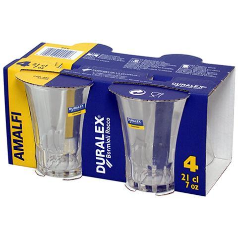 Set 4 bicchieri in vetro Duralex Amalfi 21cl