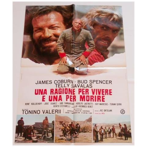 Vendilosubito Manifesto Originale Film Una Ragione Per Vivere Una Per Morire Bud Spancer