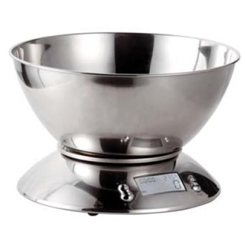 KAUFGUT Bilancia Elettronica da Cucina in Acciaio Inox