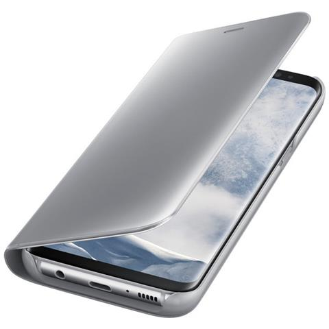 SAMSUNG Clear View Standing Cover Custodia per Galaxy S8 - Argento