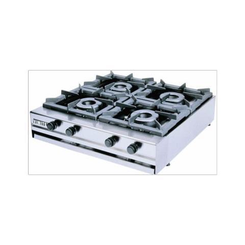 Fornellone A Gas Professionale 4 Fuochi Cm 80x70x20 Rs3146