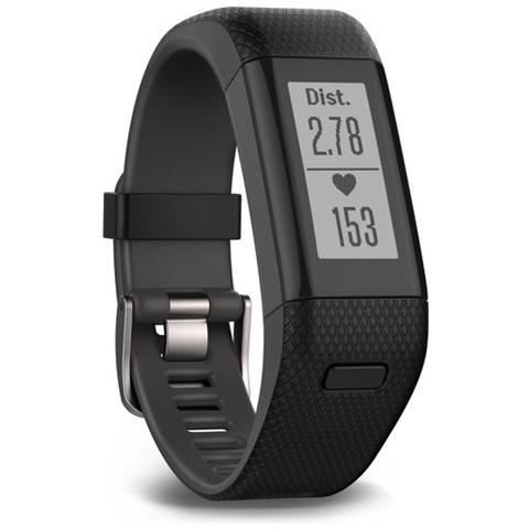 GARMIN VivoSmart HR+ Regular Fitness Band con GPS + Frequenza Cardiaca Taglia XL colore Nero