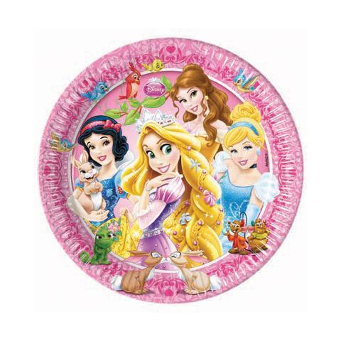 COMO GIOCHI Principesse Disney - Animali - 8 Piatti 23 Cm