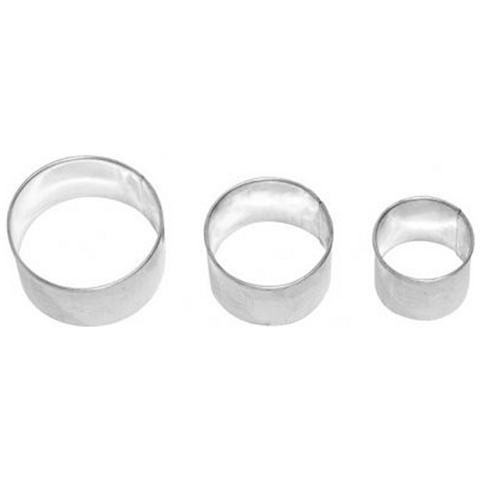Set 3 Mini Tagliapasta Cerchio In Metallo