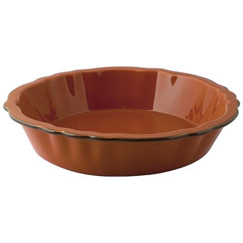 Pirofila Stoneware Smerigliata Tonda Arancio 24 Strumenti Da Cucina