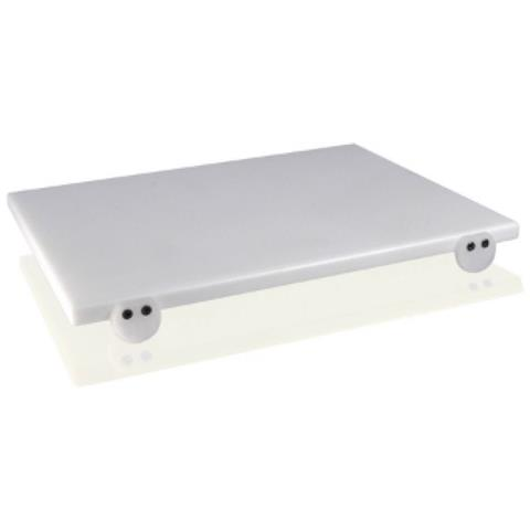 Taglieri In Polietilene Bianco 50x30x2 Con Fermi