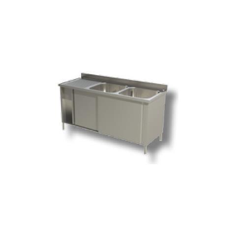 Lavello 200x70x85 Acciaio Inox 430 Armadiato Cucina Ristorante Pizzeria Rs4950
