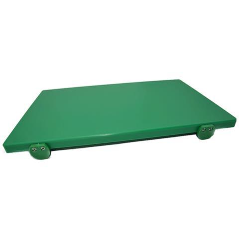 Tagliere In Polietilene Professionale Verde 40x30x2con Fermi