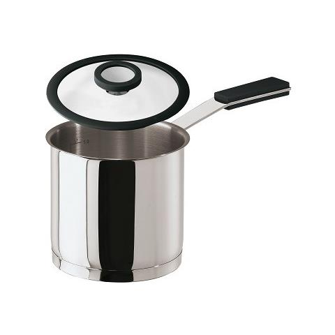 Bollitore Latte Cm 12 C / cop 12 O'clock Grey Inox