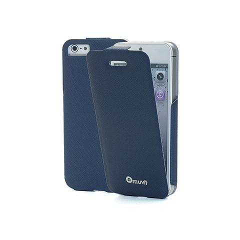 MUVIT pu skinny iflip case ip5/5s bl