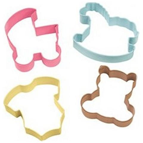 Set 4 Tagliapasta Baby Per Biscotti Nascita