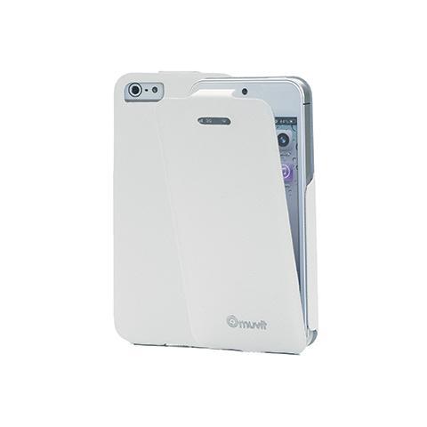 MUVIT pu skinny iflip case ip5/5s wh