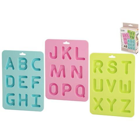 Habi Confezione 3 Stampi Lettere Silicone Pastel Pasticceria