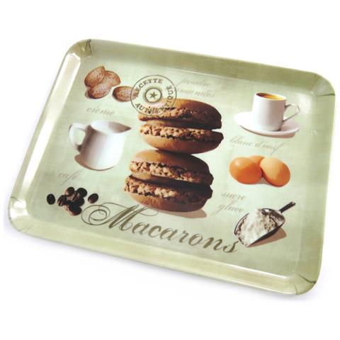 piccolo vassoio 'macarons' marronn beige (24x18 cm) - [ m9879]