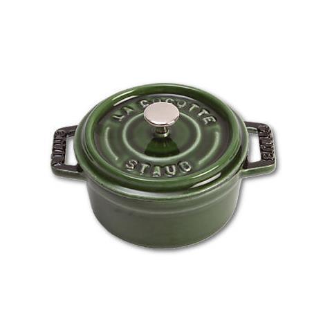Cocotte Mini in Ghisa con Coperchio Colore Verde