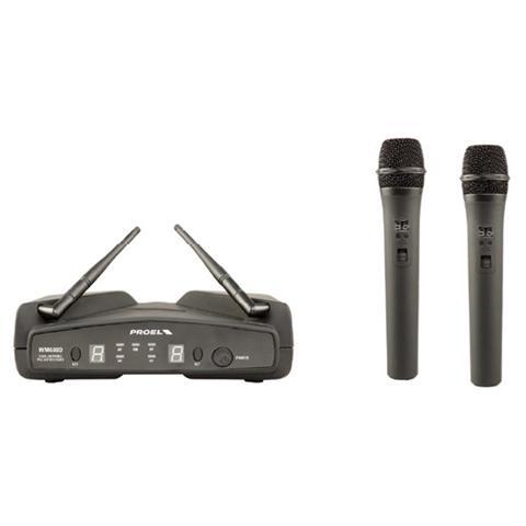 PROEL WM600DM PLL UHF Dual Channel Wireless Microphone System
