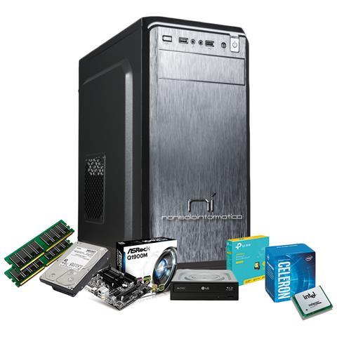 Image of Pc Desktop Intel Quad Core 2.42 Ghz Con Licenza Windows 10 Pro 64 Bit Originale 4 Gb Di Ram Hard Disk 1000 Gb Assemblato