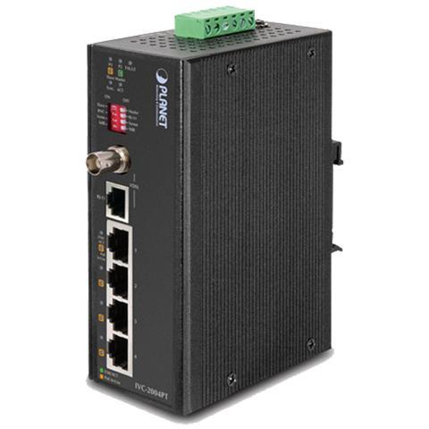 PLANET IVC-2004PT, -40 - 75 °C, -40 - 85 °C, 5 - 90 °C, 5 - 90 °C, 10/100Base-T (X) , IEEE 802.3, IEEE 802.3af, IEEE 802.3at, IEEE 802.3u, IEEE 802.3x