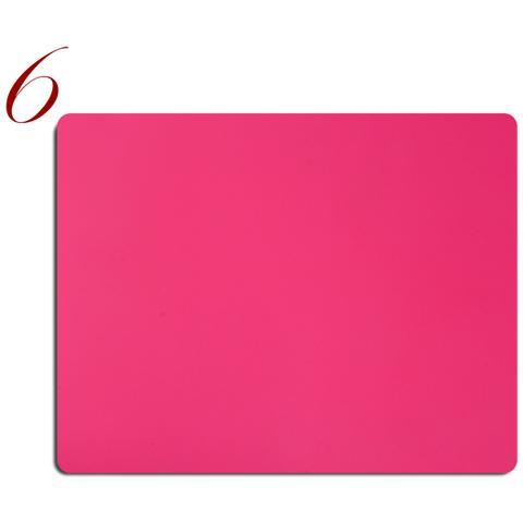 Tovagliette Americane Pelle Lavabile Pantone Fluo Rosa 6Pz