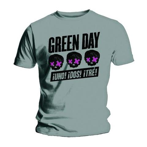 ROCK OFF Green Day - Three Heads Better Than One (T-Shirt Unisex Tg. 2XL)